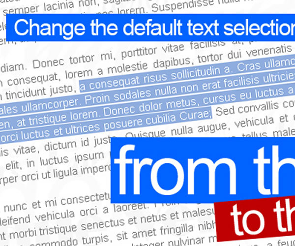 Change Text Selection Color With CSS